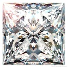 Coleccionismo de gemas: ENORME DIAMANTE MOISSANITE DE 1,50 QUILATES, CLARIDAD SI2, COLOR BLANCO H-I, TALLA PRINCESA. Lote 152936586