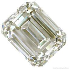 Coleccionismo de gemas: UN ENORME DIAMANTE MOISSANITE DE 2,13 QUILATES, CLARIDAD I2, COLOR BLANCO AMARILLO. Lote 153716154
