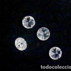 Coleccionismo de gemas: DIAMANTE AUTÉNTICO Y NATURAL.LOTE DE 4.1 MILÍM.GSV1 COLOR TRANSPARENTE Y BRILLANTE.PARA ENGARZAR!. Lote 156650974