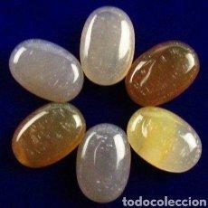 Coleccionismo de gemas: LOTE DE 6 ÁGATA NATURALES 58,60 CTS.. Lote 156182710