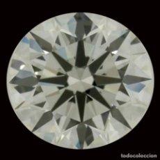 Coleccionismo de gemas: UN ENORME DIAMANTE MOISSANITE DE 4,38 QUILATES, CLARIDAD VVS1, COLOR BLANCO HIELO AZUL I-J. Lote 156488294