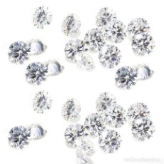 Coleccionismo de gemas: 7 DIAMANTES MOISSANITE DE 2,55 QUILATES, CLARIDAD VVS1-VS2, COLOR ICE BLUE WHITE G-H-I TALLA REDONDA. Lote 156498378