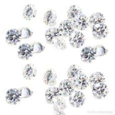 Coleccionismo de gemas: 6 DIAMANTES MOISSANITE DE 1,70 QUILATES, CLARIDAD VVS1-VS2, COLOR BLANCO G-H-I TALLA REDONDA. Lote 156525918
