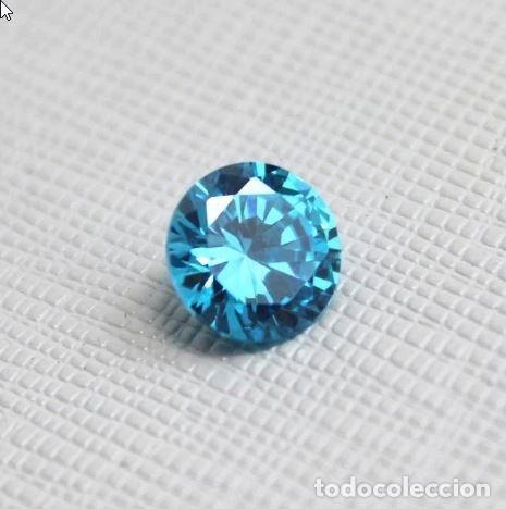 Coleccionismo de gemas: Deslumbrante Circón Natural Variedad Light. Circular de 7.50 Ct y 13.9 mm de diametro. - Foto 5 - 155178638