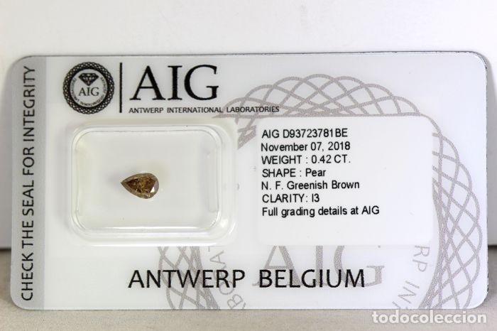 Coleccionismo de gemas: Importante diamante ( - 0.42 ct - ) certificado, talla pera y claridad grado 13. - nr. 334 - APP - Foto 2 - 158062114