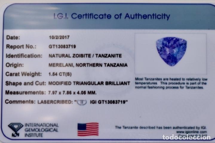Coleccionismo de gemas: TANZANITA, TRILLÓN, IGI CERTIFICADO - Foto 5 - 158242190
