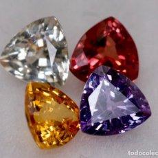 Coleccionismo de gemas: ZAFIROS MUTICOLOR, CALIBRADOS, CON ESTUDIO GEMOLÓGICO. Lote 158342078