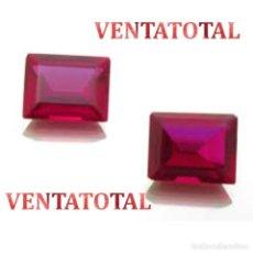 Coleccionismo de gemas: PAREJA DE RUBIS ROJO SANGRE DE PALOMA 9,40 KILATES MEDIDA 1,0 X 0,8 CENTIMETROS-Nº78. Lote 158550494