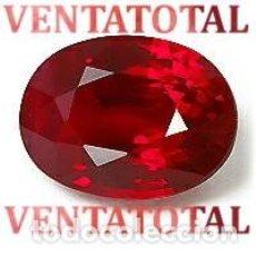 Coleccionismo de gemas: RUBI OVAL ROJO SANGRE DE PALOMA DE 5,90 KILATES MEDIDA 1 X 0,7 CENTIMETROS - Nº99. Lote 158836754