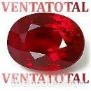 Coleccionismo de gemas: RUBI OVAL ROJO SANGRE DE PALOMA DE 5,92 KILATES MEDIDA 1 X 0,7 CENTIMETROS - Nº101. Lote 158837026