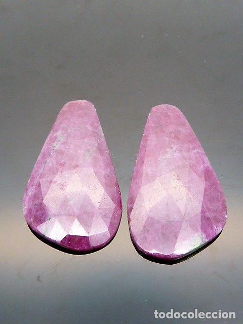 Coleccionismo de gemas: Gema: Dos Zoisitas variedad con Rubí, 38,11 qt. - Foto 3 - 158912742