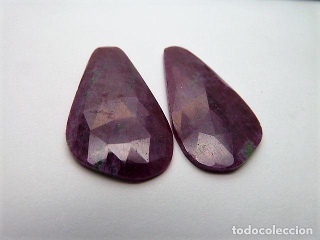 Coleccionismo de gemas: Gema: Dos Zoisitas variedad con Rubí, 38,11 qt. - Foto 4 - 158912742