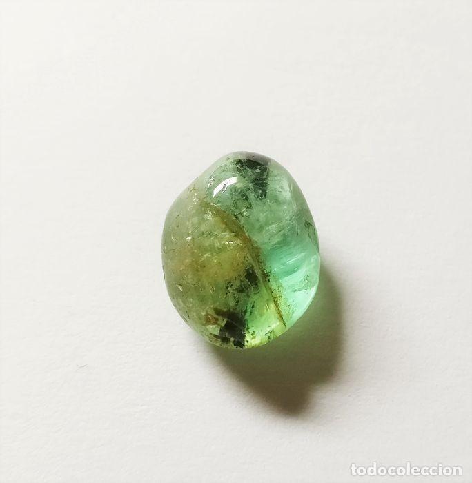 GEMAS: BELLISIMA ESMERALDA NATURAL DE BUEN TAMAÑO Y CALIDAD, 6,46 CT, BERILO NATURAL. (Coleccionismo - Mineralogía - Gemas)