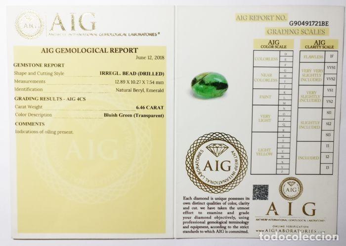 Coleccionismo de gemas: Gemas: Bellisima esmeralda natural de buen tamaño y calidad, 6,46 ct, berilo natural. - Foto 4 - 158962286