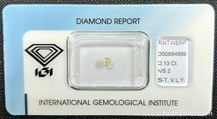 Coleccionismo de gemas: DIAMANTE - 0.13 ct - Radiante-, INFORME IGI, claridad: VS2 (inclusiones muy ligeras) - Foto 2 - 203114343