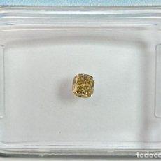 Coleccionismo de gemas: DIAMANTE DE EXCEPCIONAL CLARIDAD: 0.16 CT, COJÍN FANCY BROWN YELLOW -CERTIF IGI, CLARIDAD: SI1. Lote 159047358