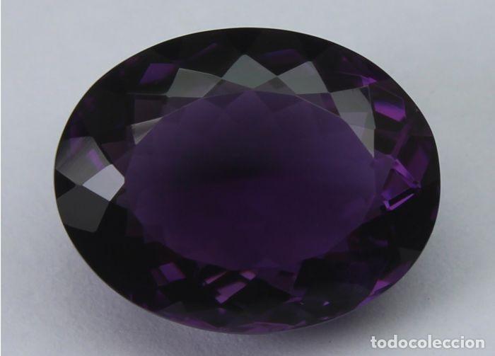 GEMA: AMATISTA VIOLETA DEL BRASIL BUEN TAMAÑO, 8,47 CT., COLOR CLARO Y CON BUEN LUSTRE - AG K25- APP (Coleccionismo - Mineralogía - Gemas)