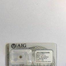 Coleccionismo de gemas: 1 PCS DIAMANTE - BRILLANTE, REDONDO - N - CORTE: EXCELENTE - VS2 CERTIFICADO AIG SELLADO. Lote 159067142