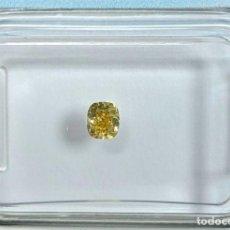 Colecionismo de pedras preciosas: DIAMANTE- 0.20 CT - COJÍN BRILLANTE- FANCY BROWNISH YELLOW - IGI ANTWERP: SI1 - NR. 322 - APPP. Lote 159120250