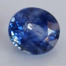 Coleccionismo de gemas: ZAFIRO AZUL NATURAL. ESPECIE CORINDÓN ,TARJETA CERTIFICACIÓN. 2,08 CT.. Lote 159128982