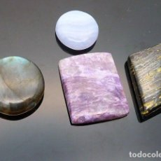 Coleccionismo de gemas: GEMAS: LOTE DE 4 PIEDRAS: CHAROITA, LABRADORITA, OJO DE HIERRO Y AGATA BLUE - 135.12 CT - APP. Lote 159131350