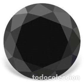 Coleccionismo de gemas: Diamante Negro Moissanita de la India con Talla Redonda de 2 Ct. (7.5 mm). - Foto 3 - 159303238