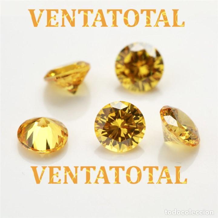 ZAFIRO AMARILLO TALLA DIAMANTE 6,70 KILATES MEDIDAS 1,0 X 0,5 CENTIMETROS - Nº5 (Coleccionismo - Mineralogía - Gemas)