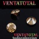 Coleccionismo de gemas: ZAFIRO DORADO FUEGO TALLA DIAMANTE 6,45 KILATES MEDIDAS 1,0 X 0,5 CENTIMETROS - Nº6. Lote 159573966