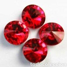 Coleccionismo de gemas: 4 CRISTALES FACETADO ROJO&TITANIO. Lote 159585336