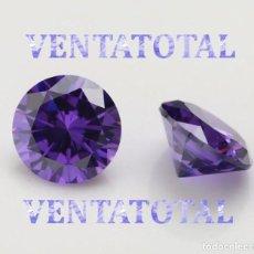 Coleccionismo de gemas: ZAFIRO PURPURA DESLUMBRANTE TALLA DIAMANTE DE 1,43 KILATES Y MIDE 0,7 X 0,5 CM CASI 1 CENTIMETRO-Nº5. Lote 160195022