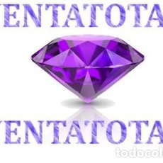 Coleccionismo de gemas: ZAFIRO PURPURA DESLUMBRANTE TALLA DIAMANTE DE 6,66 KILATES Y MIDE 1 X 0,7 CENTIMETROS -Nº18. Lote 160196202