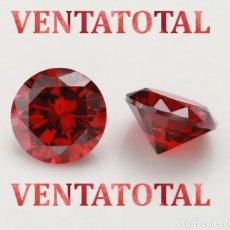 Coleccionismo de gemas: GRANATE DE FUEGO DESLUMBRANTE TALLA DIAMANTE DE 8,51 KILATES Y MIDEN UNO 1,1 X 0,7 CENTIMETROS -Nº14. Lote 160544078
