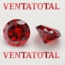 Coleccionismo de gemas: GRANATE DE FUEGO DESLUMBRANTE TALLA DIAMANTE DE 8,10 KILATES Y MIDEN UNO 1,1 X 0,7 CENTIMETROS -Nº18. Lote 160544410