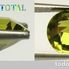 Coleccionismo de gemas: ZAFIRO VERDE MIEL DESLUMBRANTE TALLA DIAMANTE DE 7,20 KILATES Y MIDEN UNO 1,0 X 0,7 CENTIMETROS -Nº7. Lote 160632598