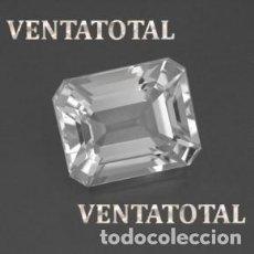 Coleccionismo de gemas: ZAFIRO BLANCO RADIANTE DE 4,50 KILATES Y MIDE 1,3 X 1 CENTIMETRO - Nº1. Lote 160740666
