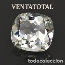 Coleccionismo de gemas: ZAFIRO BLANCO RADIANTE DE 1,25 KILATES Y MIDE 0,6 X 0,6 CENTIMETRO - Nº1. Lote 160743902