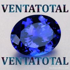 Coleccionismo de gemas: ZAFIRO AZUL ATERCIOPELADO RADIANTE DE 8,68 KILATES - MEDIDA 1,8 X 1,1 CENTIMETROS - Nº 10. Lote 161006826