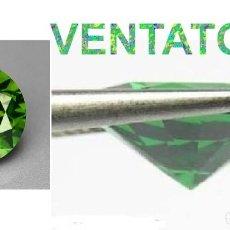 Coleccionismo de gemas: ZAFIRO VERDE DESLUMBRANTE DE 1,36 KILATES - MEDIDA 0,6 X 0,4 MILIMETROS UN POCO MENOS DE 1 CM - Nº7. Lote 161020830