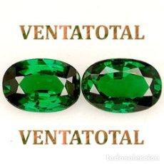 Coleccionismo de gemas: 2 ESMERALDAS VERDE RADIANTE PESO DE LAS 2 - 13,15 KILATES - MEDE 1,6 X 1,1 CENTIMETROS - Nº1. Lote 161304798
