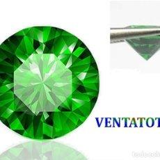 Coleccionismo de gemas: ZAFIRO VERDE DAMANTOIDE DESLUMBRANTE TALLA DIAMANTE PESO 1,11 KILAT-MEDE 0,5 X 0,4 CENTIMETROS -Nº12. Lote 161306678
