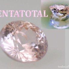 Coleccionismo de gemas: MORGANITA ROSA DESLUMBRANTE TALLA DIAMANTE DE 2,37 KILAT-MEDE 0,8 X 0,5 CASI 1 CENTIMETRO -Nº5. Lote 161421354