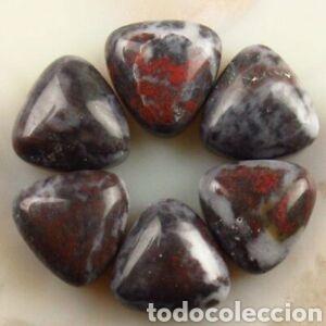 6 JASPER NATURALES (Coleccionismo - Mineralogía - Gemas)