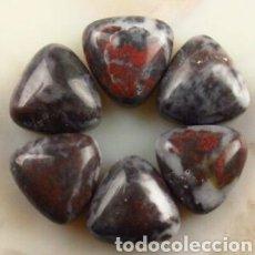 Coleccionismo de gemas: 6 JASPER NATURALES. Lote 161480113