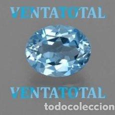 Coleccionismo de gemas: AGUAMARINA AZUL MAR DESLUMBRANTE DE 4,37 KILATES -MEDE 1,3 X 1 CENTIMETROS -Nº65. Lote 161517082