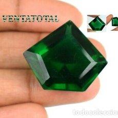 Coleccionismo de gemas: AMATISTA VERDE DE 31,10 KILATES CON CERTIFICADO AGSL - MEDIDA 2,7 X 2,2 CENTIMETROS - Nº3. Lote 161961290