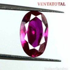 Coleccionismo de gemas: TURMALINA ROJO ROSACEO DE 4,20 KILATES CON CERTIFICADO AGSL- MEDIDA 1,1 X 0,7 CENTIMETROS - Nº4. Lote 161962614