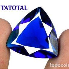 Coleccionismo de gemas: TOPACIO AZUL LONDON BLUE DE 31,45 KILATES CON CERTIFICADO AGSL- MEDIDA 2,4 X 2,3 CENTIMETROS - Nº31. Lote 161963178