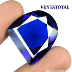 Coleccionismo de gemas: TOPACIO AZUL LONDON BLUE DE 40,20 KILATES CON CERTIFICADO AGSL- MEDIDA 2,3 X 2,1 CENTIMETROS - Nº32. Lote 161963218