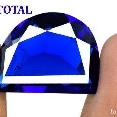 Coleccionismo de gemas: TOPACIO AZUL LONDON BLUE DE 40,10 KILATES CON CERTIFICADO AGSL - MEDIDA 2,7 X 2,0 CENTIMETROS - Nº34. Lote 162427530