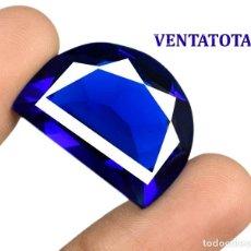 Coleccionismo de gemas: TOPACIO AZUL LONDON BLUE DE 32,45 KILATES CON CERTIFICADO AGSL - MEDIDA 2,5 X 1,9 CENTIMETROS - Nº43. Lote 162428514